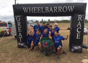 Costa raises funds for Tolga State School in Great Wheelbarrow Race