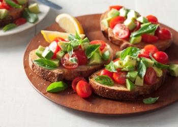 Avocado & Basil Breakfast Bruschetta