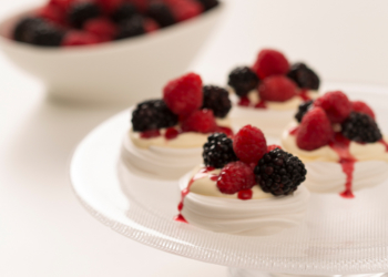 Raspberry and Blackberry Mini Pavlovas