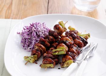 Mushroom & Chicken Yakitori