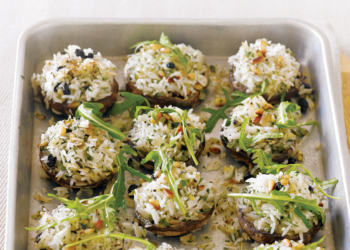 Lemon & Herb Pilaf Roasted Mushrooms