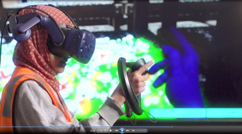 Screen shot of virtual training video